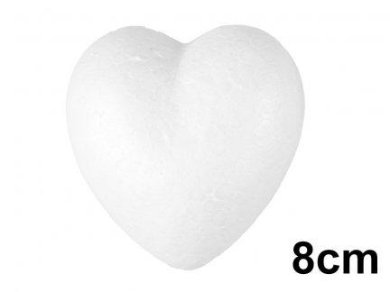 Serce Styropianowe Małe 8cm  [Komplet - 100 sztuk]