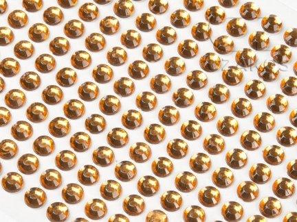 Kryształki samoprzylepne 3mm Bursztyn [10 Blistrów]
