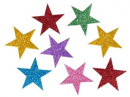 Naklejki Gwiazdki Brokatowe 4cm [Komplet - 30 sztuk]