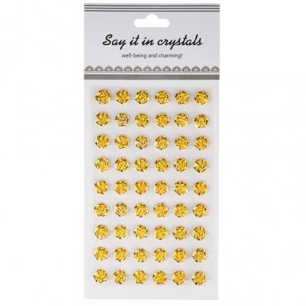 Różyczki Samoprzylepne Złote 1cm [Komplet 12 blistrów]