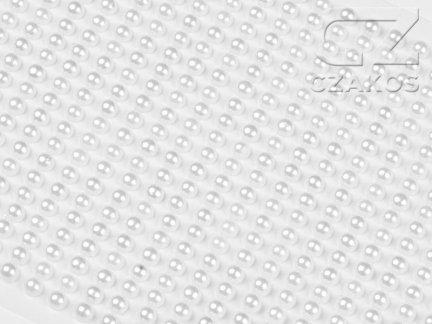 Perełki samoprzylepne 4mm Perłowy [10 Blistrów]
