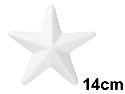Gwiazda Styropianowa 3D Średnia 14cm [Komplet - 30 sztuk]