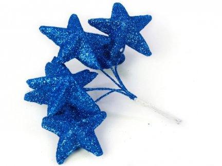 Gwiazdki Brokatowe  Chaber [Komplet - 10 Pęczków]