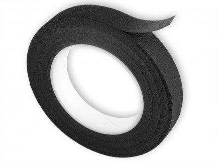 Florystyczna Taśma Maskująca 12mm/27m - Czarna [Komplet 12szt.]