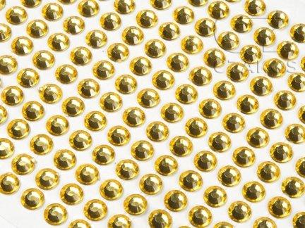 Kryształki samoprzylepne 3mm Żółty  [10 Blistrów]