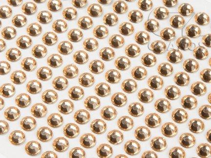 Kryształki samoprzylepne 4mm Brzoskwinia  [10 Blistrów]