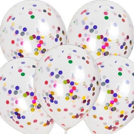 Balony z Konfetti Mix [Komplet - 5 opakowań]