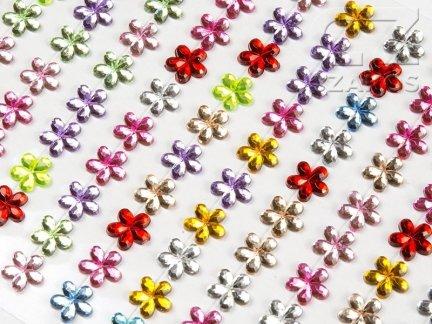 Kryształki Kwiatki 12mm Mix Kolorów [10 Blistrów]