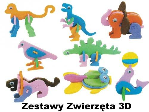 Zestawy Zwierzęta 3D
