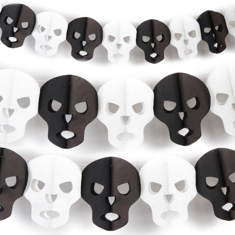 Girlanda Czaszki Halloween 3D [Komplet 10szt]