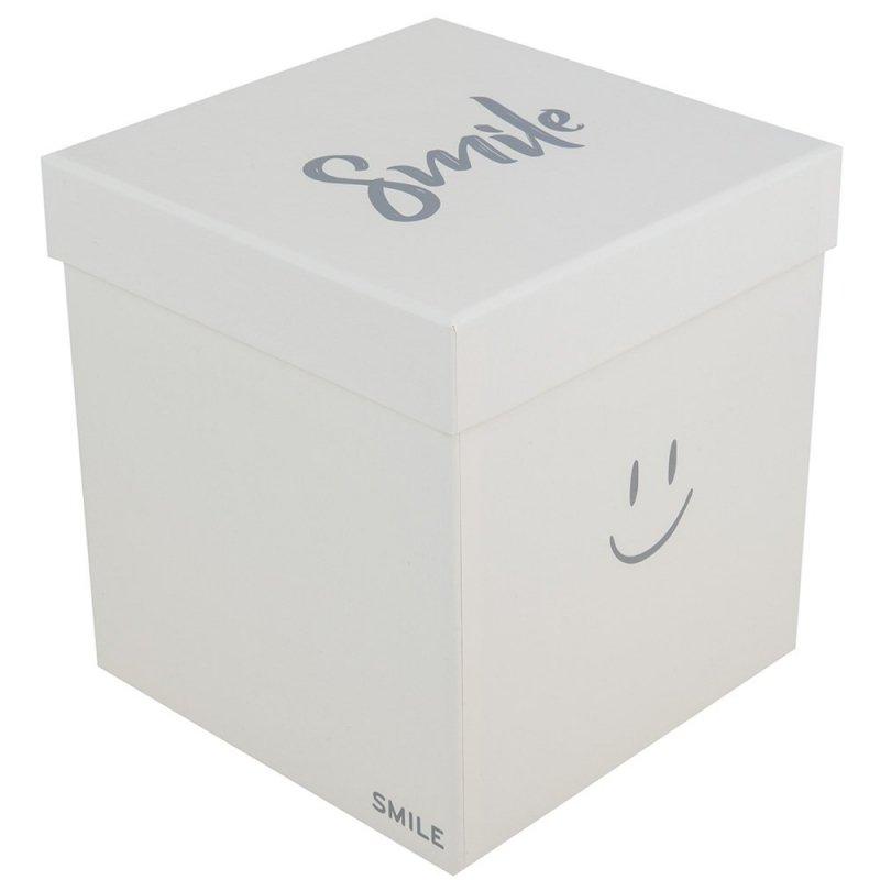 """Flower Box Kwadrat """"Smile"""" Jasny Żółty Średni 1"""