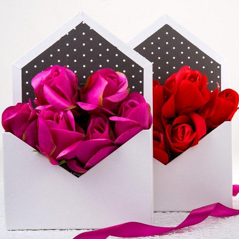 Flower Box Koperta Biała [Komplet 2szt]