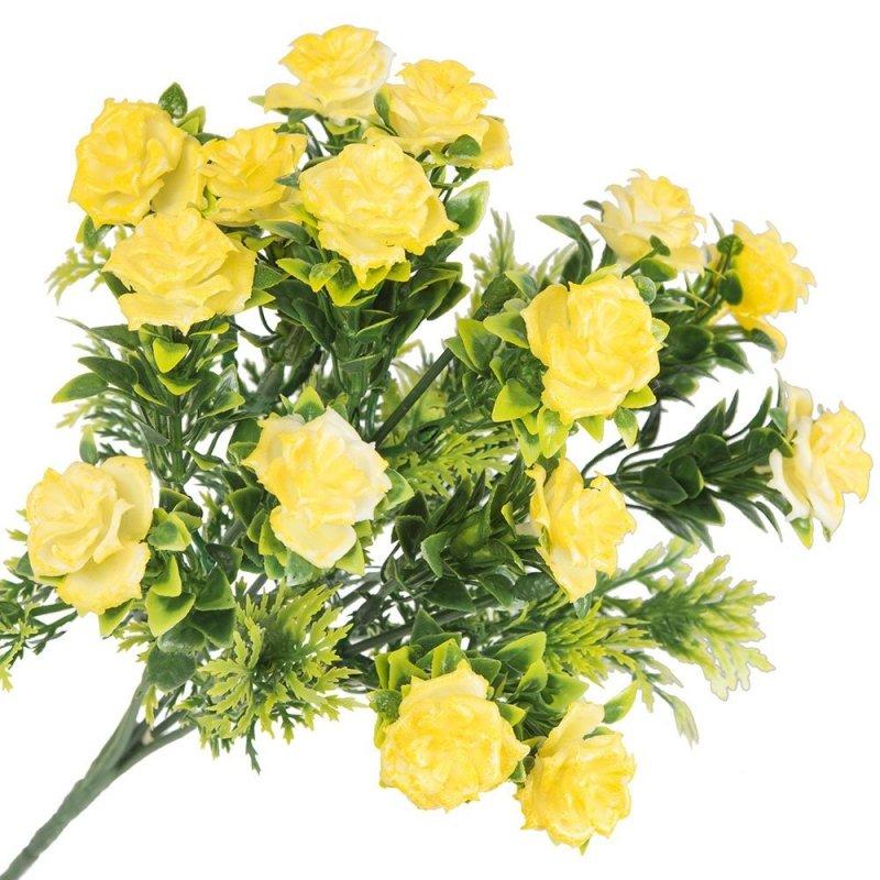 Gałązka Dekoracyjna Żółte Róże
