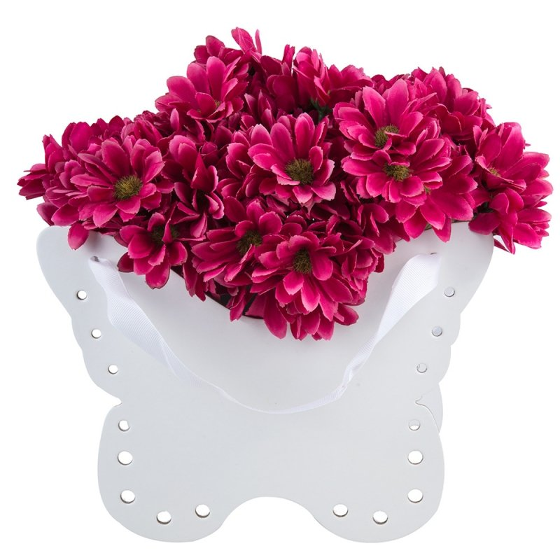 Flower Box Osłonka Motyl Biały 2