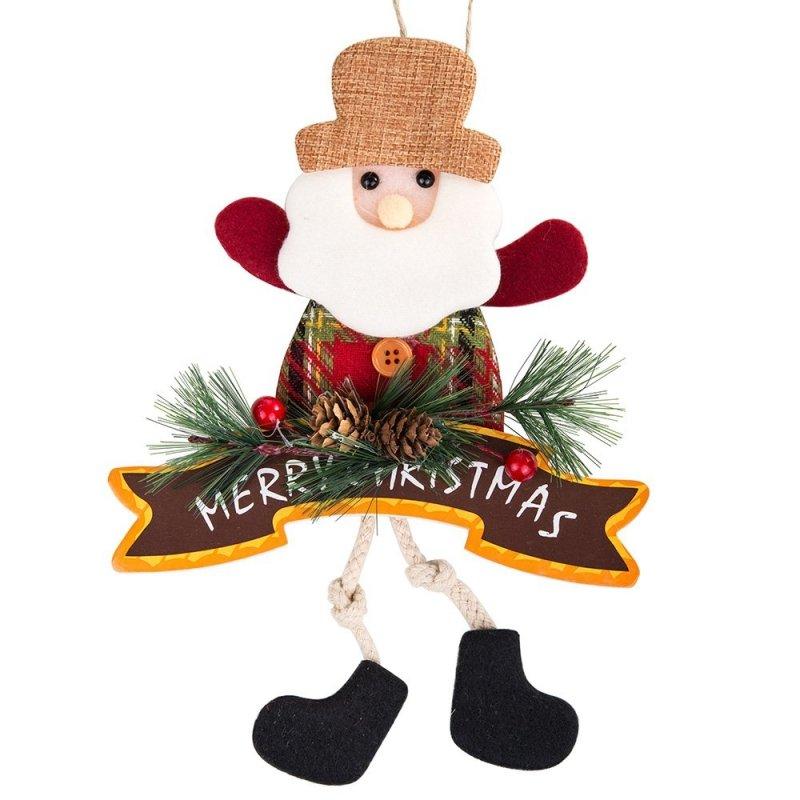 Zawieszka Mikołaj Merry Christmas 33cm [Komplet - 5 sztuki]