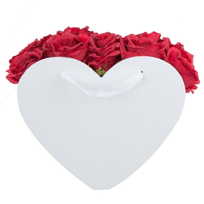 Flower Box Osłonka Serce Białe Duże 2