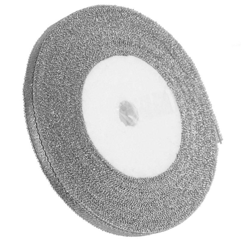 Tasiemka Brokatowa 6mm Srebrna  [Zestaw - 20 sztuk]