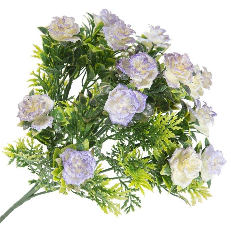 Gałązka Dekoracyjna Fioletowe Róże