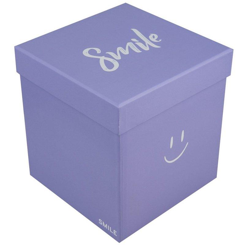 "Flower Box Kwadrat ""Smile"" Lawenda Średni 1"