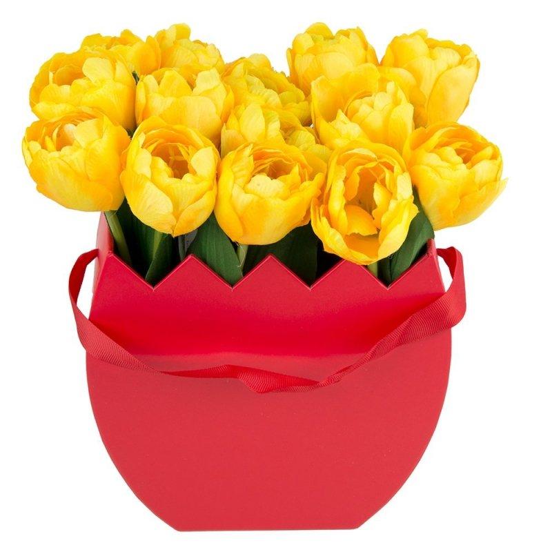 Flower Box Osłonka Czerwona Jajko Małe [ 2 Sztuki ]