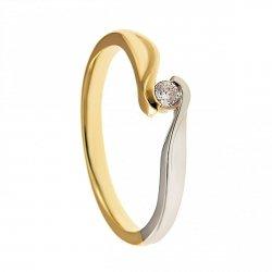 ARTES-Pierścionek złoty zaręczynowy BC-142 PR. 375