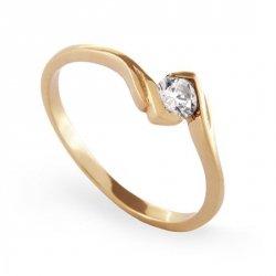 ARTES-Pierścionek złoty zaręczynowy A-37/375