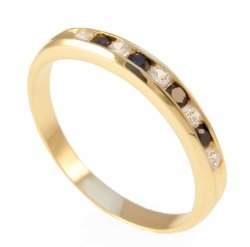 ARTES-Pierścionek złoty 585 obrączka z szafirami 24H 321