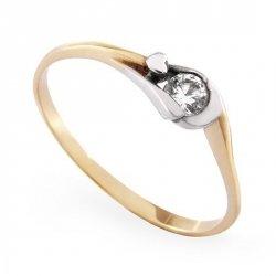 ARTES-Pierścionek złoty zaręczynowy A-53/375