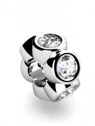 Koralik, charms, zawieszka modułowa, srebro 925
