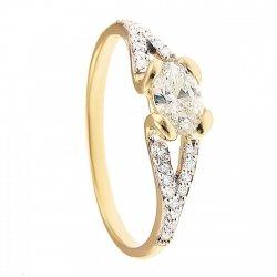 ARTES-pierścionek złoty zaręczynowy 675/375
