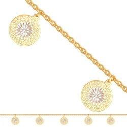 Bransoletka złota, damska 585 - 31709