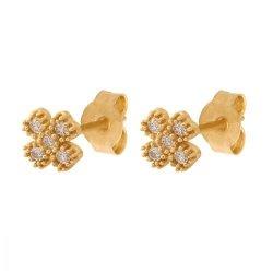 Złote kolczyki 585 - 34255