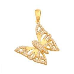 Zawieszka złota 585 motylek - 42596