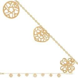 Bransoletka złota, damska 585 - Br129