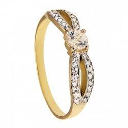 ARTES-Pierścionek złoty zaręczynowy 593/375