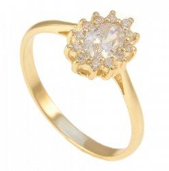 ARTES- Pierścionek złoty zaręczynowy 375