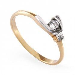 ARTES-Pierścionek złoty zaręczynowy A-61/375