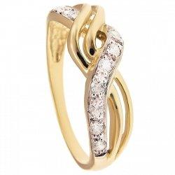 ARTES- Pierścionek złoty obrączka 699/375