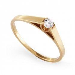 ARTES-Pierścionek złoty zaręczynowy A-69/375