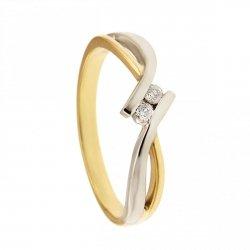 ARTES-Pierścionek złoty zaręczynowy BC-154 PR. 375