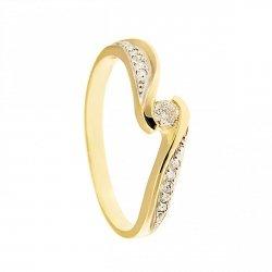 Pierścionek złoty 585 zaręczynowy 24H PROMOCJA! BC-159