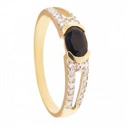 ARTES-pierścionek złoty z szafirem 660/375