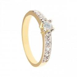 ARTES-Pierścionek złoty zaręczynowy 24H PROMOCJA! BC-134 PR. 375
