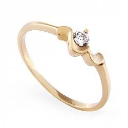 ARTES-Pierścionek złoty zaręczynowy A-48/375