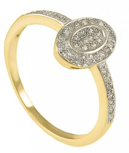 ARTES- Pierścionek złoty zaręczynowy 24H PROMOCJA! W-5040