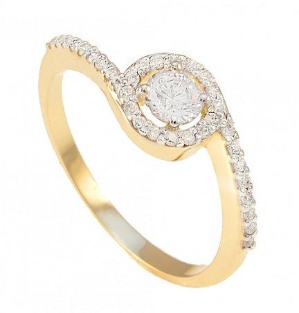 ARTES- Pierścionek złoty zaręczynowy 24H PROMOCJA! 648/375