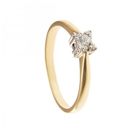 ARTES-Pierścionek złoty zaręczynowy 24H PROMOCJA! BC-99 PR. 375
