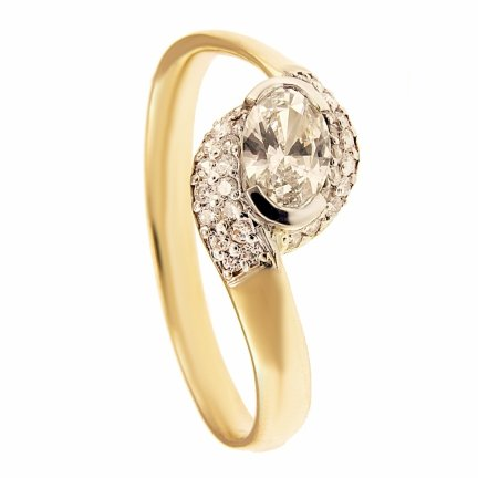 ARTES-Pierścionek złoty zaręczynowy 589/375
