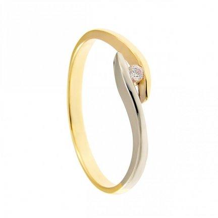 ARTES-Pierścionek złoty zaręczynowy BC-147 PR. 375