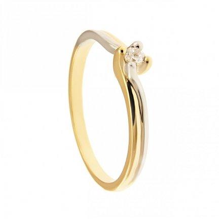 ARTES-Pierścionek złoty zaręczynowy BC-136 PR. 375